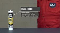 How to apply Selsil Crack Filler?